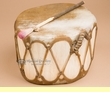 "Native Aspen Log Drum 11x7""  (pd36)"