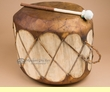 "Native Tree Trunk Log Drum 14.75""x12""  (pd23)"