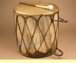 "Native Aspen Log Drum 15.25x15.5""  (pd62)"