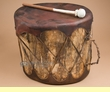 "Rustic Native Log Drum 15x13.5""  (pd43)"