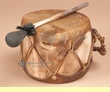 "Native Aspen Log Drum 5.5""x4.25"" -Hand Drum (pd9)"