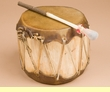 "Native Aspen Log Drum 6.5x7""   (pd46)"