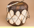 "Native Rawhide Log Drum 9x10""  (pd41)"