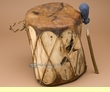 "Rustic Native Log Drum 11.5""x12""  (pd43)"