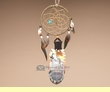 "Native Cedar Feather Dreamcatcher 11"" -On the Wind  (109)"