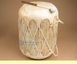 "Native Cowhide Log Drum 12.75x16.5""  (pd58)"