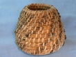 "Native Kumeyaay Mission Indian Pine Needle Basket 4x3""  (kb4)"