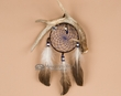 "Native Navajo Indian Antler Dream Catcher 4"" -Blue  (dc4-12)"