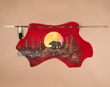 Native Navajo Indian Spear Hanging -Sunset Bear  (83)