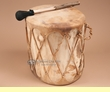 "Native Rawhide & Aspen Log Drum 12.75""x12.5""  (pd8)"