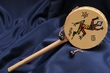 "Native Rawhide Drum Rattle 9"" Lizard"