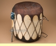 "Native Rawhide & Trunk Log Drum 14.5x16.5""   (pd49)"