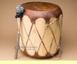 "Native Rawhide & Trunk Log Drum 14.5x16""   (pd49)"