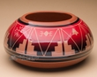 "Sioux Indian Planter Vase 4.25"" -Lakota Red Glazed  (p627)"