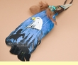 Native Style Painted Feathers -Eagle Head  (pf11)