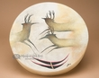 "Native Tarahumara Hand Painted Drum 16"" -Spirit Deer"