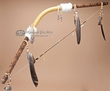 "Native Tarahumara Indian Bow & Arrow 48""  -Gold  (b20)"