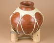 "Native Tarahumara Indian Pottery Vase 10.25""  (p202)"