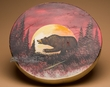 "Native Tarahumara Painted Drum 16"" -Moonlit Bear  (pd36)"