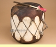 "Native Tree Trunk Cowhide Log Drum 9.5x10""  (pd61)"