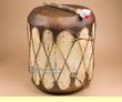 "Native Tree Trunk Log Drum 15""x19""  (pd54)"