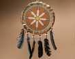 "Native American Hand Painted Shield 14"" -Feathers  (24)"