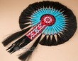 "Navajo Beaded Horse Hair Dance Bustle 16x23""  (b4)"