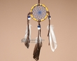 "Navajo Buffalo Bone Dreamcatcher 2.5""  (dc25-6)"