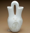 "Navajo Clay Pottery Wedding Vase 10"" - Anasazi (p)"