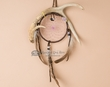 "Navajo Deer Antler Dreamcatcher 4"" -Purple  (dc4-14)"