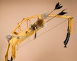 "Navajo Deer Skin Bow & Red Fox Pelt Quiver 42""   (ba82)"