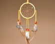 "Navajo Deer Skin Dream Catcher 4"" -Gold  (dc4-17)"