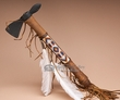 "Navajo Hand Beaded Old Style Tomahawk 16""  (t95)"
