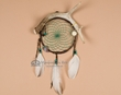 "Navajo Indian Antler Dream Catcher 6"" -green  (dc6-16)"