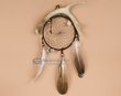 "Navajo Indian Antler Dream Catcher 6"" -Black  (dc6-58)"