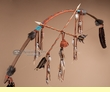 """Navajo Indian Beaded Leather Bow 47"""" - brown (b11)"""