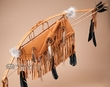 Navajo Indian Bow Quiver & Knife Set -Rust   (b90)