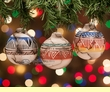 Navajo Indian Etched Christmas Ormament -3 Set  (co7)