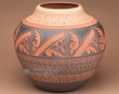"Acoma Pueblo Indian Etched Pottery Vase 11.25"" (af)"