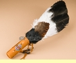 "Shoshone Indian Feather Smudging Fan 14""  (fan83)"