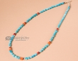 "Navajo Indian Hand Beaded Necklace 18""  (64)"