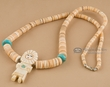 "Navajo Indian Jewelry Necklace 22.5"" -Kachina  (57)"