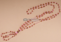 "Navajo Indian Juniper Ghost Beads 28"" -Pink   (J190)"