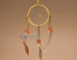 "Navajo Indian Old Style Deer Skin Dream Catcher 4""  (dc4-18)"
