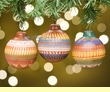 Navajo Indian Painted Christmas Ornaments- 3 piece set  (o2)