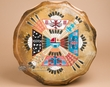 "Navajo Indian Painted Drum 16"" -Sand Painting  (pd79)"