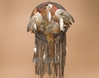 Navajo Indian Pheasant Feather Mandella Wall Shield  (s75)