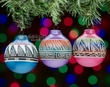 Navajo Indian Pottery Christmas Ornaments -3 Set  (o50)