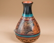 "Navajo Indian Pottery Vase 7.5"" -Eagle  (67)"
