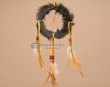 "Navajo Indian Rabbit Fur Dream Catcher 4"" -Black  (dc6-55)"